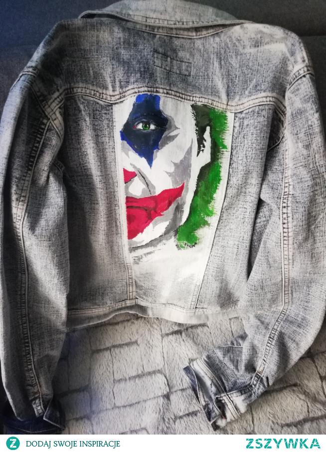 Ręcznie malowana kurtka #JOKER diy