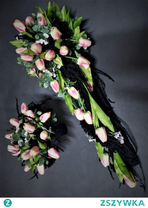 Nowoczesne dekoracje nagrobne z tulipanami od totaldeco.pl