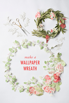 Wieniec z kwiatowej tapety