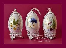 Ażurowe pisanki - gęsie jajka i suszone kwiaty  - autor - Bogusława Justyna Goleń - Poland Openwork Easter eggs - goose eggs and dried flowers   - author - Bogusława Justyna Gol...