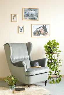 srebrny fotel fogo, wygodny fotel do salonu, wystrój wnętrz meble-woskowane.com.pl