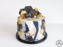 Tort orzechowy z kremem z b...