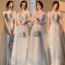 Moda Szary Sukienki Dla Dru...