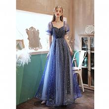 Moda Ciemnoniebieski Sukien...