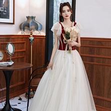 Śliczny Burgund Sukienki Na...