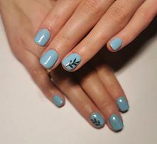 #nails#blue#paznokcie