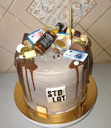 tort z wisky dla mężczyzny