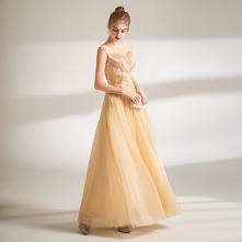 Piękne Żółta Sukienki Na Ba...