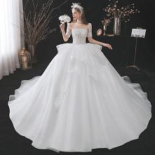 Iluzja Białe Cekinami Sukni...