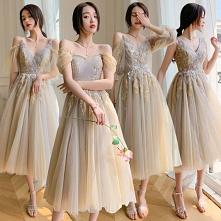 Piękne Szampan Sukienki Dla...