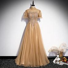 Eleganckie Szampan Sukienki...