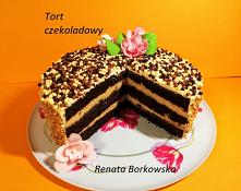 Tort czekoladowo-orzechowo-...