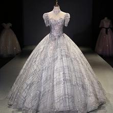 Uroczy Srebrny Sukienki Na ...