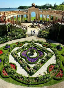 Gardens of the Schwerin Castle in Mecklenburg-Vorpommern state, Germany