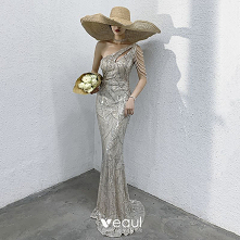 Błyszczące Srebrny Sukienki...