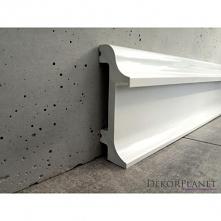 Biała listwa przypodłogowa oświetleniowa LPK108 Dekorplanet z kolekcji Elegance. Listwa podłogowa o bardzo ciekawym kształcie z możliwością zamontowania oświetlenia LED w górnej...