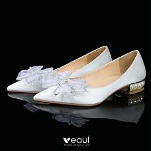 Eleganckie Białe Satyna Rhi...