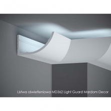 Stylowa listwa ścienna LED to MD362 Mardom Decor - Light Guard. Uniwersalny kształt MD362 Mardom zarówno do wnętrz nowoczesnych jak i klasycznych. Listwa dekoracyjna ścienna o ł...
