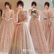 Moda Szampan Sukienki Dla D...