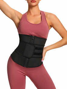 When worn Black Zipper Plus Size Latex Waist Cincher Belt High Compression during exercise, the compression stimulates thermal activity in your core which increases perspiration...