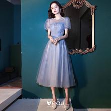 Piękne Błękitne Sukienki Na...