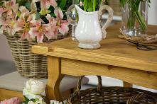 Drewniany stół woskowany w ...