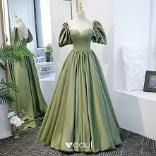 Piękne Zielony Sukienki Na ...