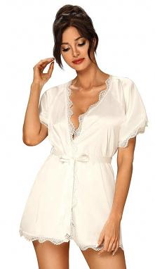 Szlafrok satynowy damski idealna bielizna do ślubu dla Panny Młodej. Świetnie się nada podczas przygotowania do ślubu.