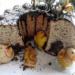 Babka marmurkowa z kwiatami leszczyny - Hazel Catkin Marble Bundt Cake - Ciambella bicolore con amenti del nociolo
