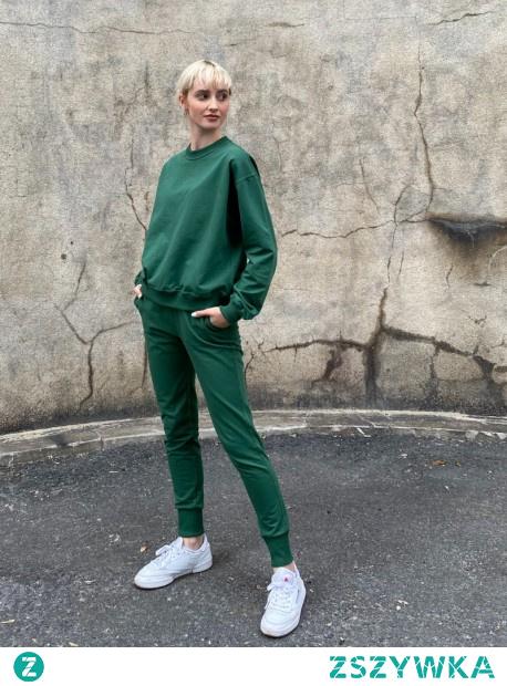 Zielony komplet dresowy - zapraszamy do nas na strone modish.pl