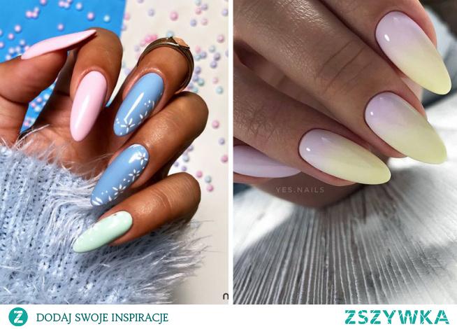 Jak wiosna, to i pastele! Sprawdźcie najnowsze inspiracje na pastelowy manicure!