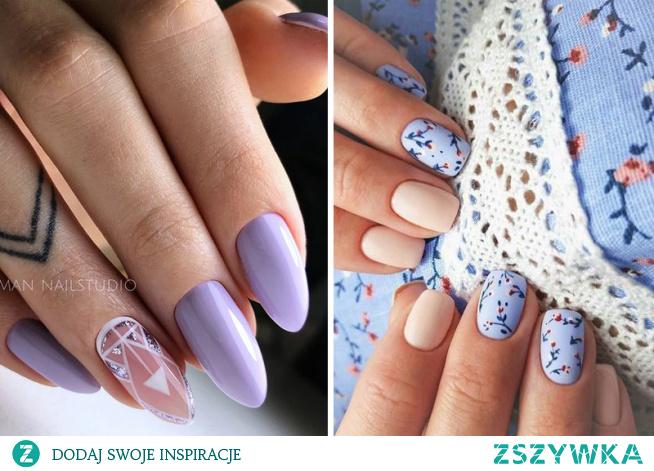 Jak wiosna, to i lawendowe paznokcie! Sprawdźcie najnowsze inspiracje z wykorzystaniem tego cudownego koloru!