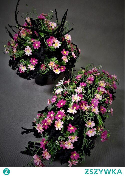Różowe kwiaty na cmentarz od totaldeco.pl