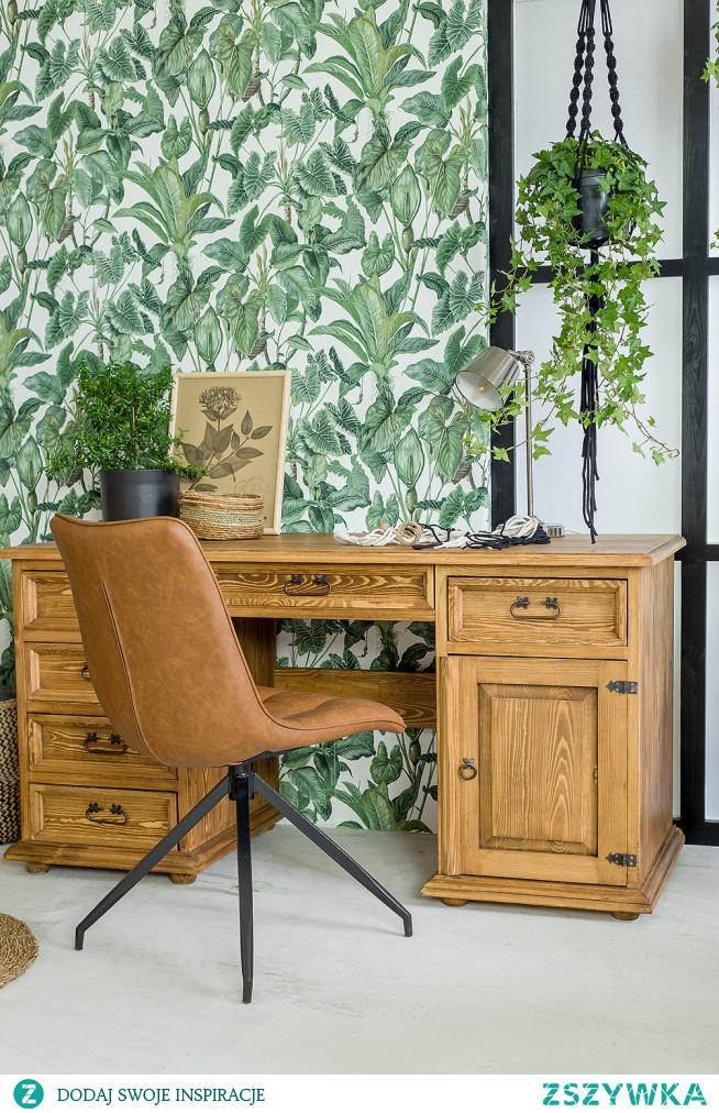 Drewniane biurko, taoletka, konsola do jadalni, stolik. #Dodatki #Meble #Stylizacja #stolik #glamour #Salon #Wystrójwnętrz #Wnętrze #wiosna #kwiaty #stół