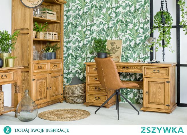 Drewniane biurko, taoletka, konsola do jadalni, stolik. #Dodatki #Meble #Stylizacja #stolik #biurko #Salon #Wystrójwnętrz #Wnętrze #wiosna #kwiaty #stół