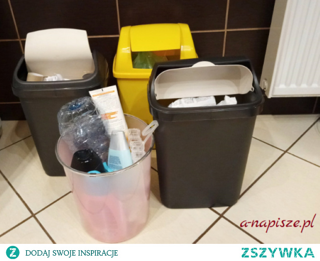 Domowy kosz na śmieci...