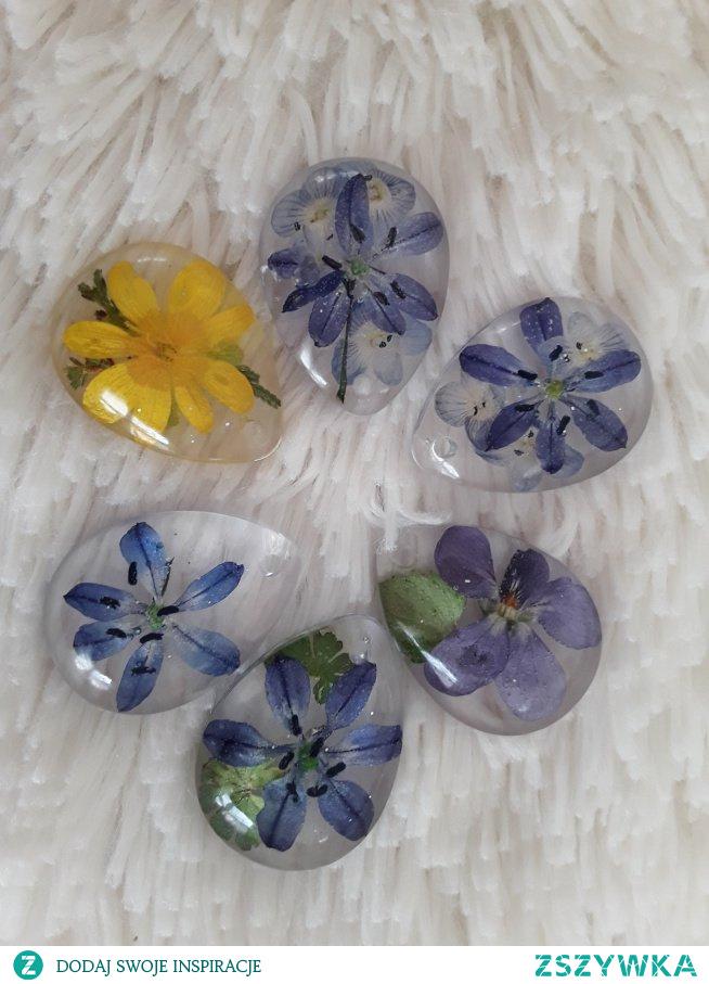 Zawieszki łezki z wiosennymi kwiatkami w komentarzu link
