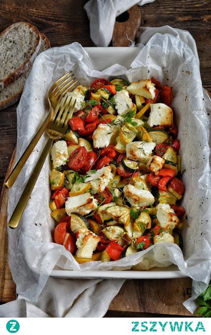Warzywa z fetą z piekarnika