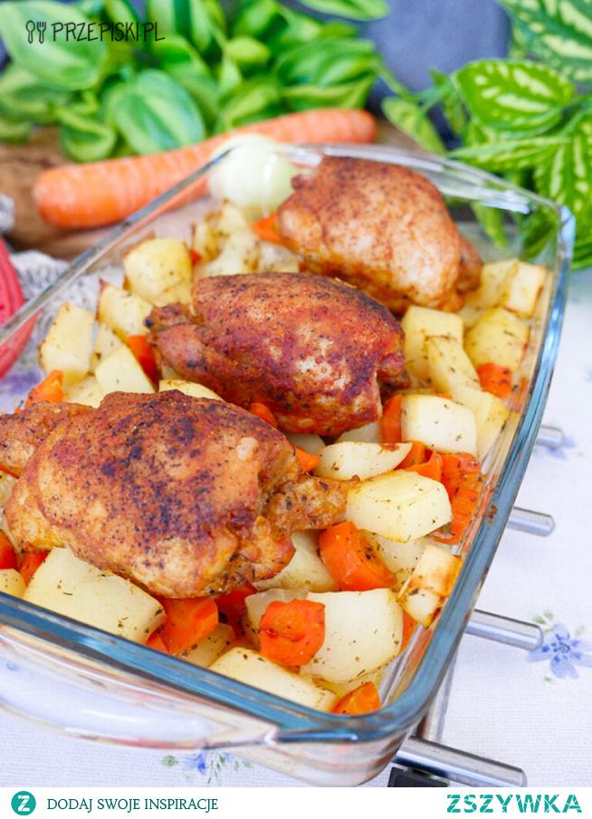 Kurczak Zapiekany na Młodych Ziemniakach
