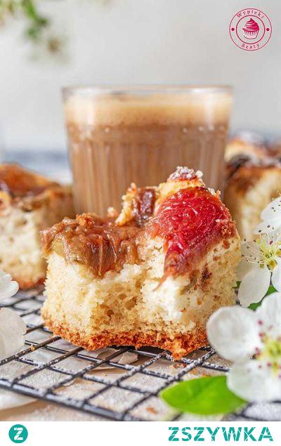 Ciasto z rabarbarem i twarogiem | Przepisy | Wypieki Beaty