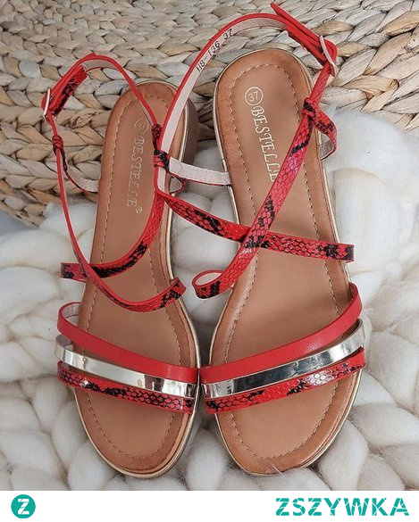 Czerwone sandały od Pantofelek24