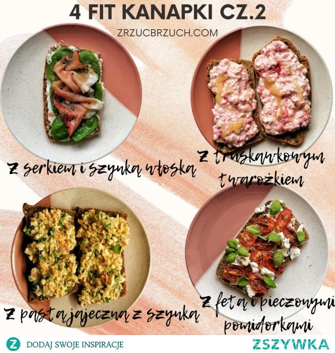 Przepisy na 4 pyszne fit kanapki :)