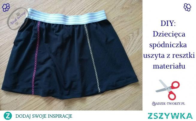 Jak uszyć spódniczkę dla dziewczynki? Możesz wykorzystać resztki materiałów! :)   Instrukcje na szycie spódniczki dla dziecka znajdziesz po KLIKnięciu w zdjęcie oraz na blogu DIY Adzik-tworzy.pl