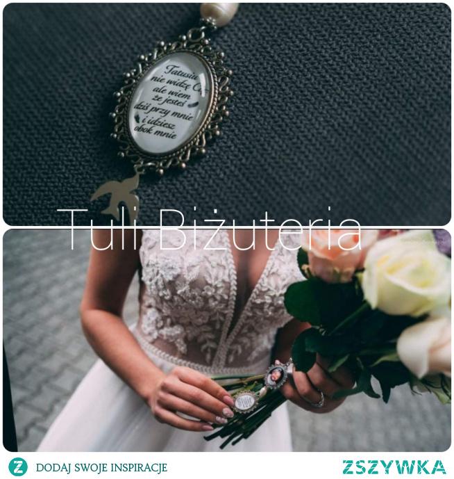 Medalion ślubny ze zdjęciem i napisem, więcej wzorów na fanpage Tuli Biżuteria