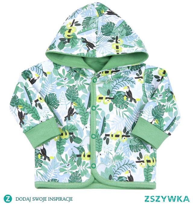 Bluza niemowlęca tropikalny las