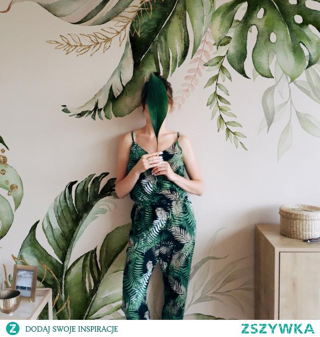 #Fototapeta zielone liście#wnętrze