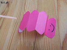 Papierowa gąsienica - chodz...