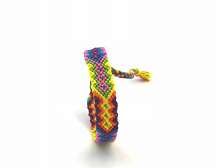 Aztecka kolorowa bransoletka z muliny