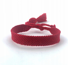 Bransoletka z muliny czerwona z jednym chwostem