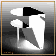 Półokrągłe biurko do salonu
